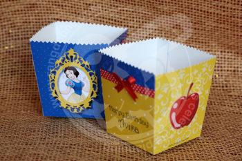 ظرف پاپ کورن سفید برفی